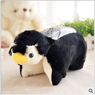 2015 Penguin starry sky projector lamps pillow lamp light sleep free shipping for children sleep(China (Mainland))