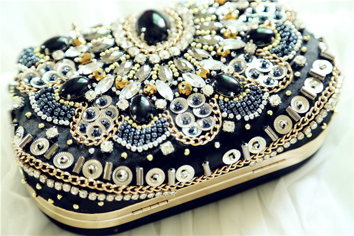 Luxurious Crystal Evening Bags Clutch bag diamond Womens evening handbag wedding party purse gemstone bags Crossbody Bead Wallet(China (Mainland))