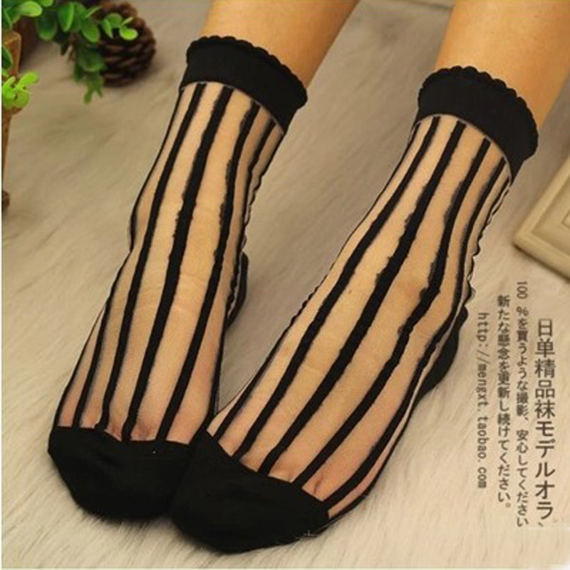 2016 summer style socks women fashion ultra-thin transparent cool casual harajuku anti-hook wire bars multicolor lace - Vincent Trend Knitting co., LTD store