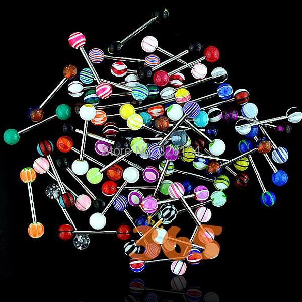 Hot Mixed Color Body Piercing Navel Tongue Rings Nipple Barbell Bars 6 - Shenzhen EST Technology Co., Ltd store