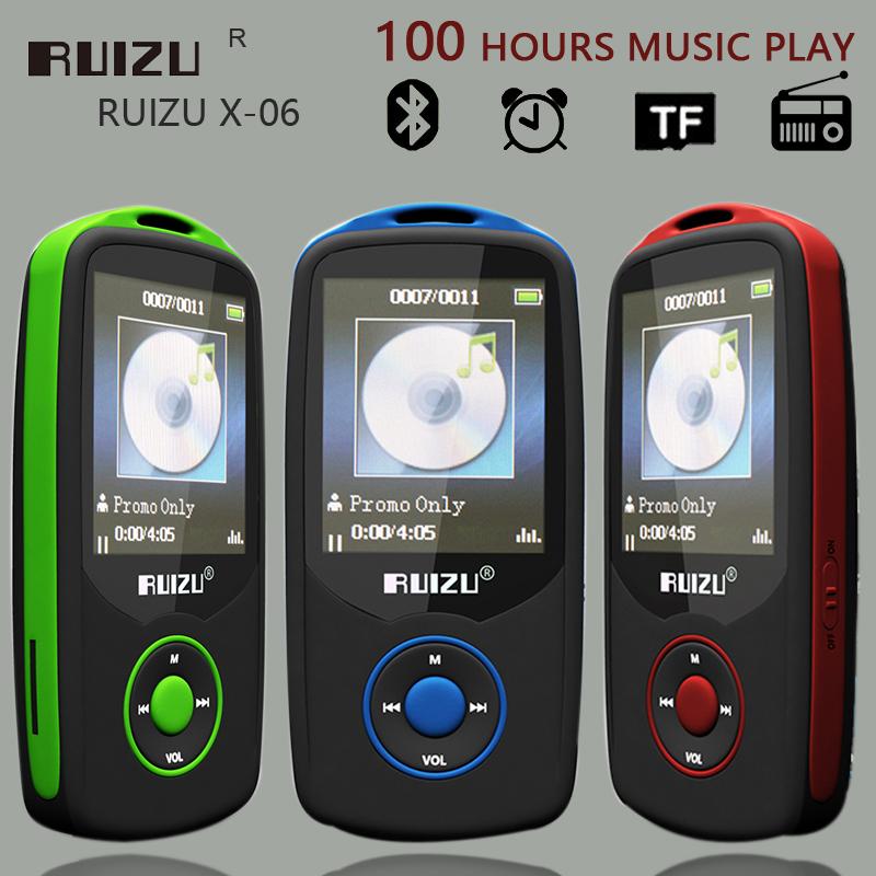 New Original RUIZU X06 Sports Bluetooth MP3 Player Hifi Music With 4GB 1.8Inch Screen 100hours Support External 64GB TF Card FM(China (Mainland))