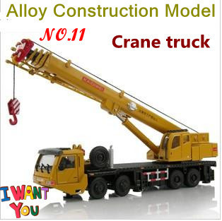 Genunie All-alloy Giant crane truck model, high quality construction vehicles toy, body rotatable/Full size + free shipping