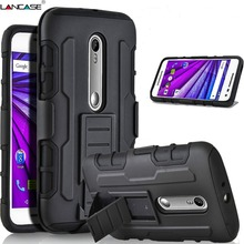 Moto G XT1032 Armor Case Hybrid Hard Fundas Belt Clip Holster Kickstand Silicon MOTO G4 G4Plus Play G2 G3 X - REDSTORE INT'L TRADING CO LTD store
