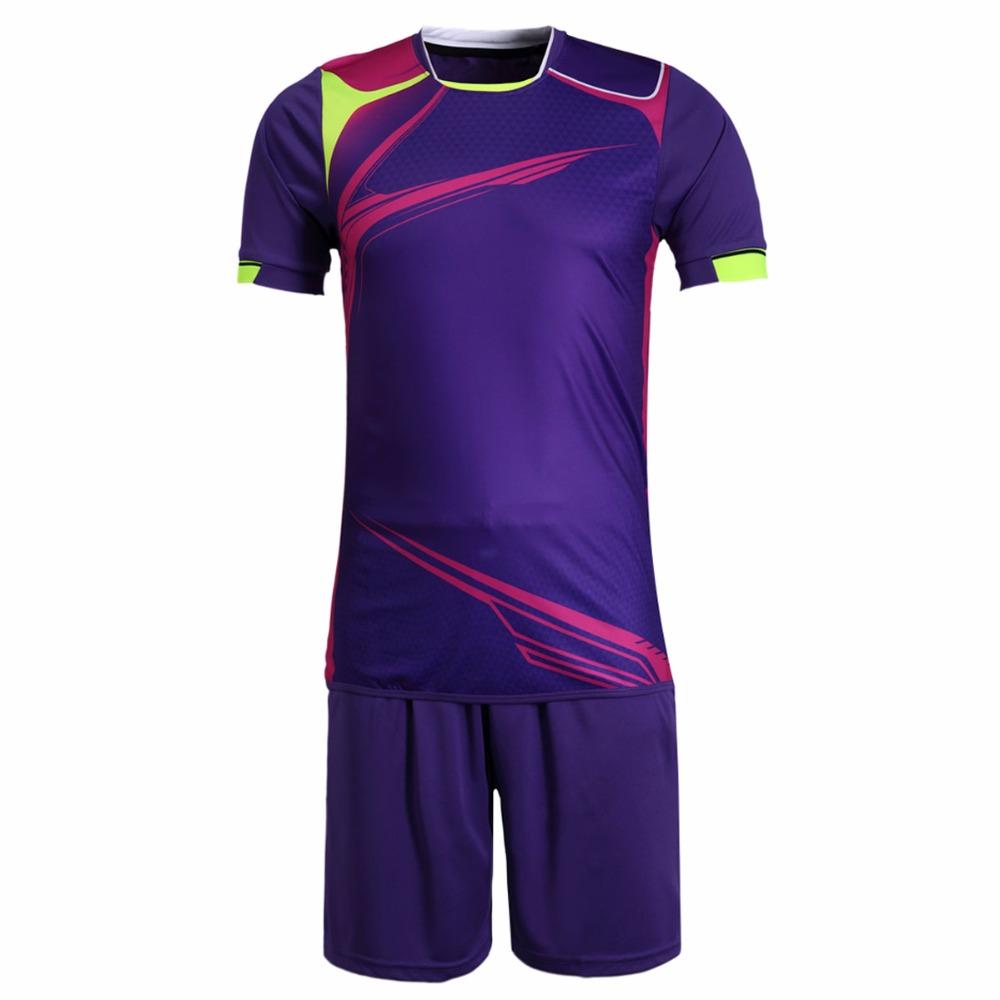 New Mens Football Jerseys Boys Anti-shrink Paintless Football Custom Jerseys Sports Wear Breathable Soccer Jerseys M-3XL Kits(China (Mainland))