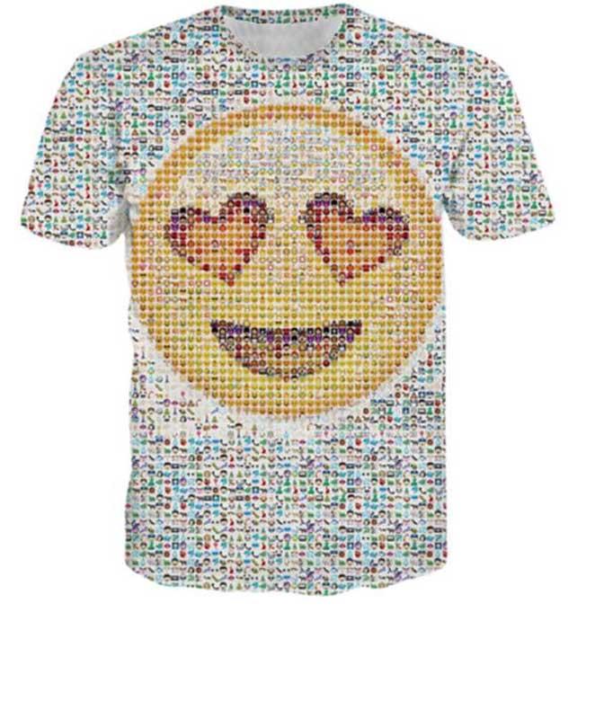 2016 New 3D Computer Painting Men's T Shirt short sleeve, O Neck Painted Shirts Fashion(China (Mainland))