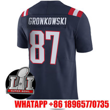 2017 New Men's Rob Gronkowski Brady Adult Navy Color 12 11 87 Edelman Rush Limited(China (Mainland))