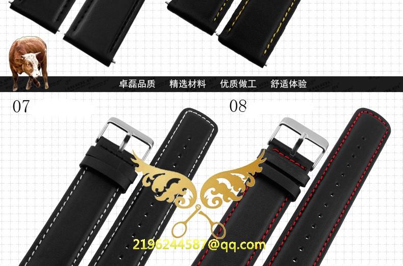 Новые 22 мм мужчины натуральная кожа ремень браслеты с нержавеющей стали пряжкой заменить suunto на открытом воздухе ремешок для часов