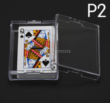 Polystyrene Transparent Playing CARDS plastic box PS Storage Poker box packing material P2(China (Mainland))