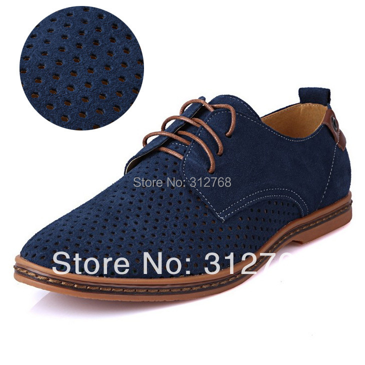 big size 2015 fashion mens leather shoes summer