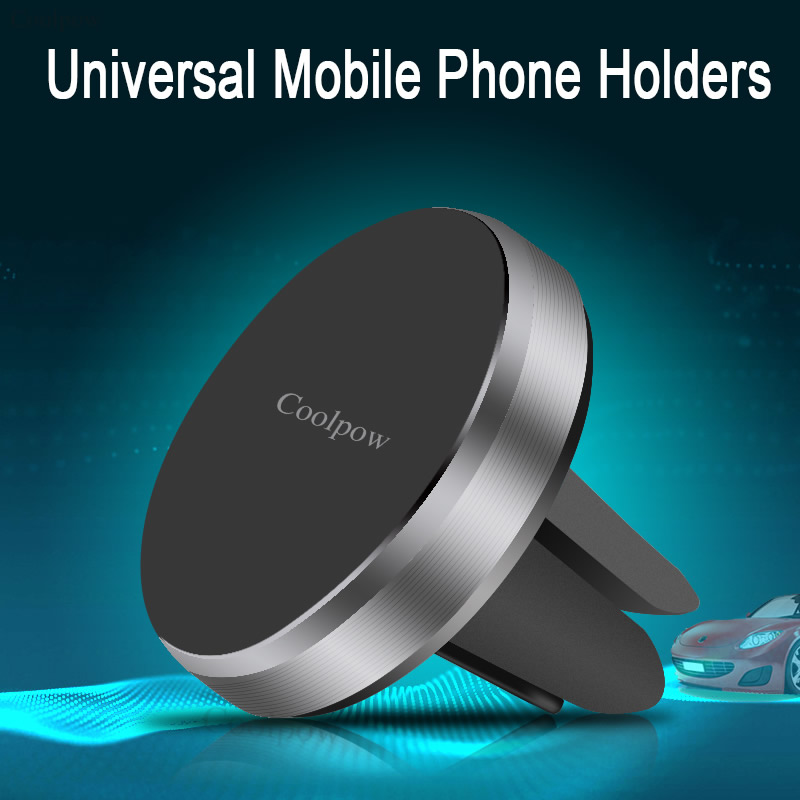 Coolpow Universal Mobile Phone Holders & Stands Air Conditioner Air Outlet magnet Mobile Phone Support Car Mobile Phone Holder(China (Mainland))