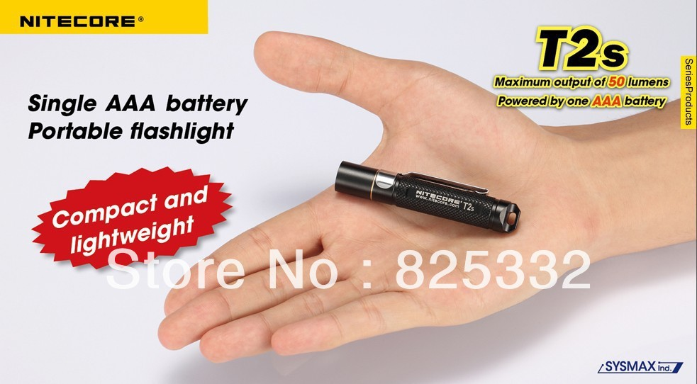 Nitecore T2S Cree XP-G R2 LED 4 Mode Waterproof EDC Portable Flashlight Hand Torch AAA Camping Hiking - passion Outdoor Lighting flashlight franchise stores store