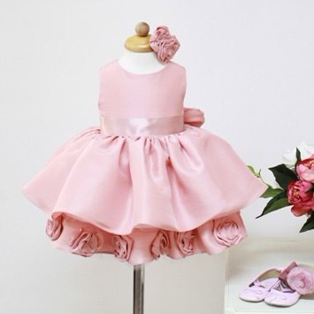 France Style!Romantic Rose!Girls Flower formal princess wedding dress female Children's /baby girl new year party ball - Super-Mom store