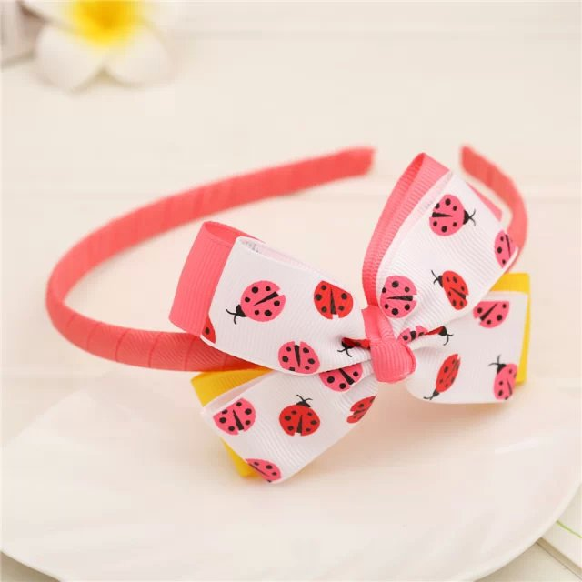 Colored insect gift children kids baby girls hair accessories hair bands headwear bow Retail wholesale Boutique tiara GG-7-7(China (Mainland))