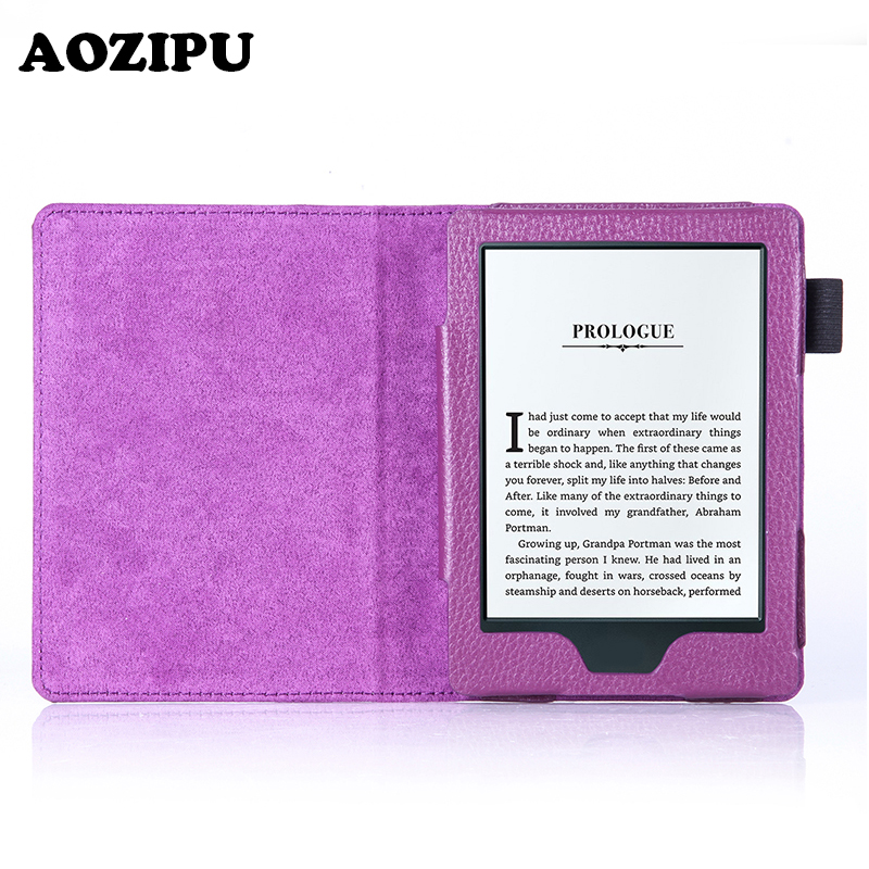 Magnetic Wake/Sleep Soft PU Leather Case for All-New Amazon Kindle 8th Generation 2016 Version Funda Protective Cover +free gift(China (Mainland))