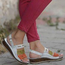 Puimentiui nuevas sandalias de verano para mujer 3 sandalias de costura de Color para damas zapatos casuales de Punta abierta plataforma de cuña Zapatos de playa(China)