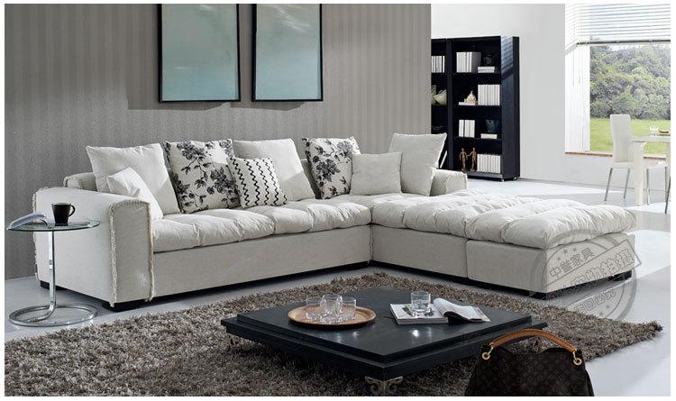 European modern design filiform design fabric simple sofa for Living room group sets