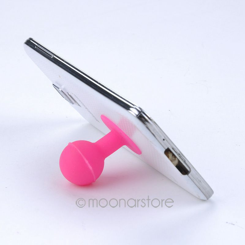 Free Shipping, Rubber Octopus Sucker Ball Stand Holder for iPod iPhone Samsung iPhone,tablet pc,,Mobile Phone Acessories MPJ487(China (Mainland))