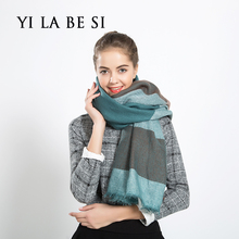 New Practical Design 2016 Winter Women Warm Plaids Pashmina Long Scarf Shawl Wrap Soft Scarves for lady Wonderful Gift NM323(China (Mainland))