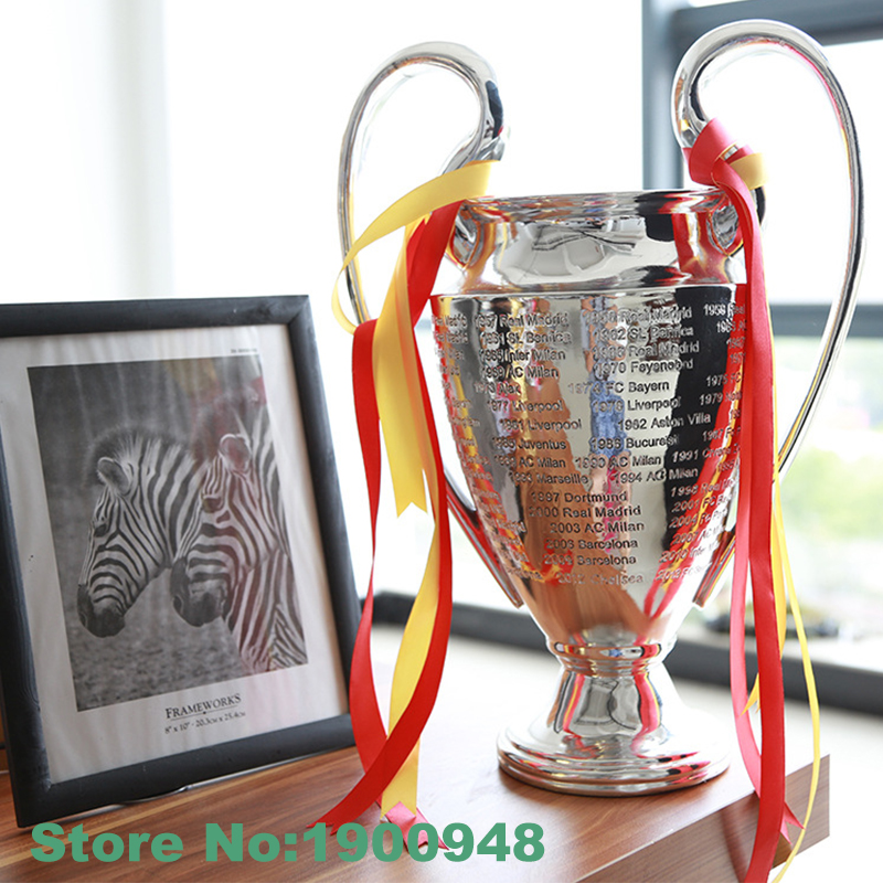 Champions League Trophy 45CM Height European Cup Model Fans Souvenirs Soccer Souvenirs Collectibles Award for Football Match(China (Mainland))