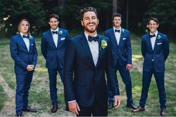 2018 Wholesale Men Suits For Wedding Navy Blue Suit M 0705 Fashion ...