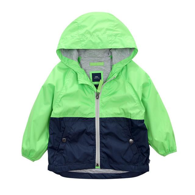 Дети Малышей Мальчики Пальто Куртки Весна Осень С Капюшоном Ветровка Дети Верхняя Одежда Минни Детская Одежда детская Blazer Одежда