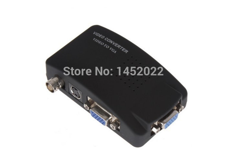 New PC Laptop RCA AV S Video To VGA TV Converter Monitor Adapter Switch Box 2015