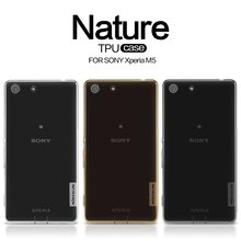 Nillkin Nature TPU With Transparent Thin Soft and Flexible Function Protect For Sony Xperia M5 Mobile Phone Case