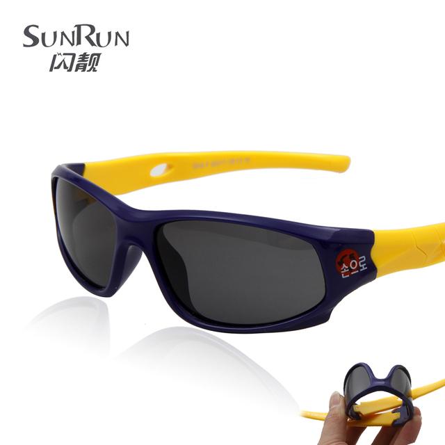 Sunrun дети поляризованные очки спортивные очки классические дети очки солнцезащитные ...