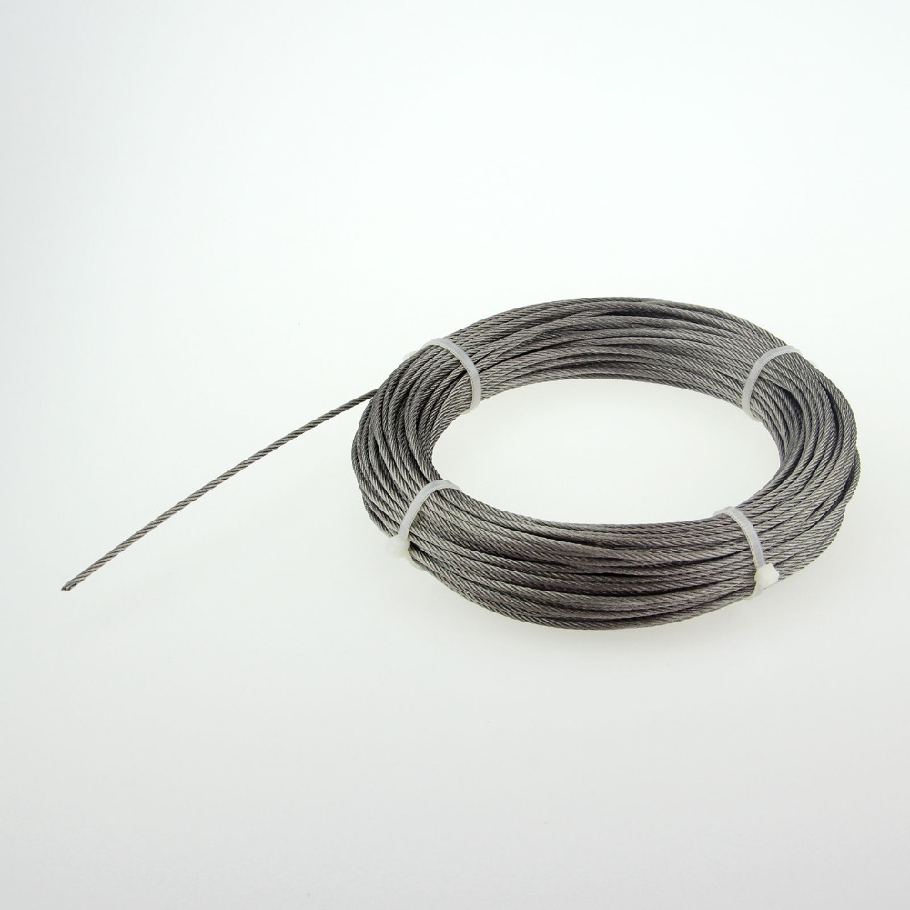 free shipping Stainless steel wire rope 1 * 7 rope Diameter:0.5mm   Roll 1000M<br>