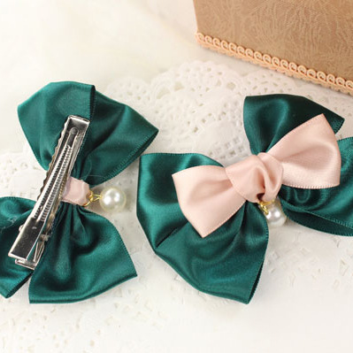 Newest promotional high quality newest charming women ribbon diy hairpin(China (Mainland))