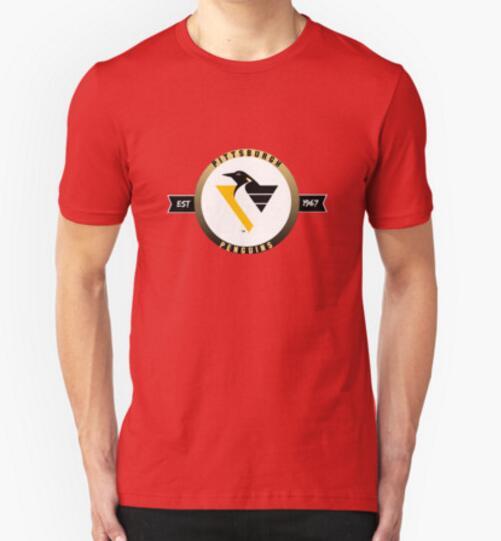 Pittsburgh Penguins vintage logo EST 1967 T Shirt funny customized t-shirt men top cotton American football team t shirt(China (Mainland))