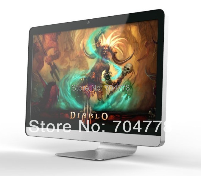 "2014 New Design Ultra Thin Design 21.5"" Intel Dual Core CPU G1620 4GB 500GB Desktop Computer All In One PC(China (Mainland))"