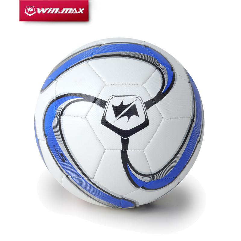 Free Shipping 2015 Winmax New Design 4mm PU Slip-Resistant Standard Size 5 Football Ball Soccer Ball(China (Mainland))