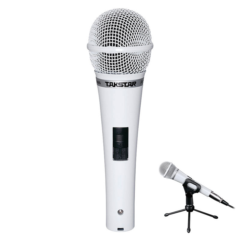 free shipping Takstar PCM-5550 handheld wired computer K song condenser microphone Dynamic microphone with Microphone Holder(China (Mainland))