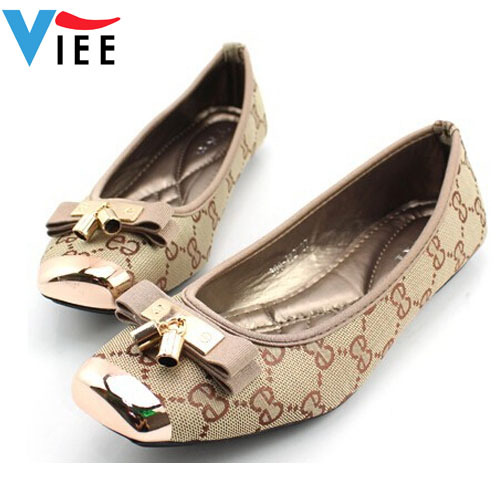 High quality fashion spring new EU style flat shoes for women wild super comfortable bow girl single shoes large size H0301(China (Mainland))