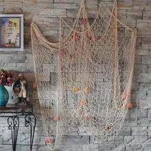 Nautical Fishing Net Seaside Wall Beach Party Sea Shells Home Garden Decor(China (Mainland))