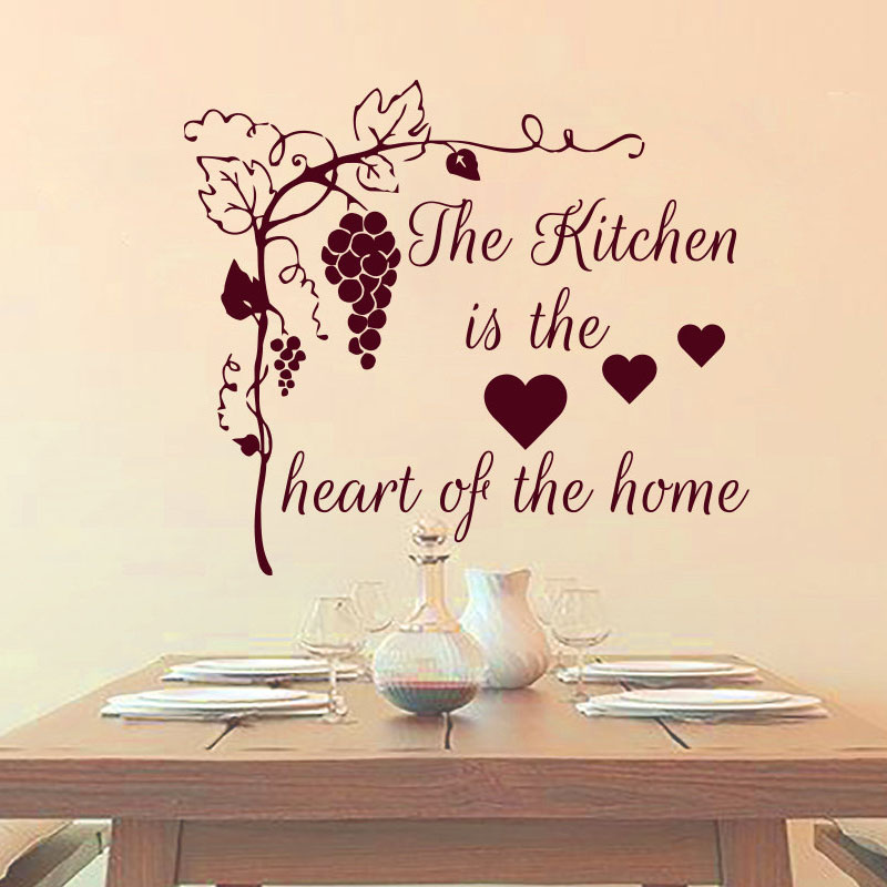 The kitchen in the heart of the home grape tree wall sticker home