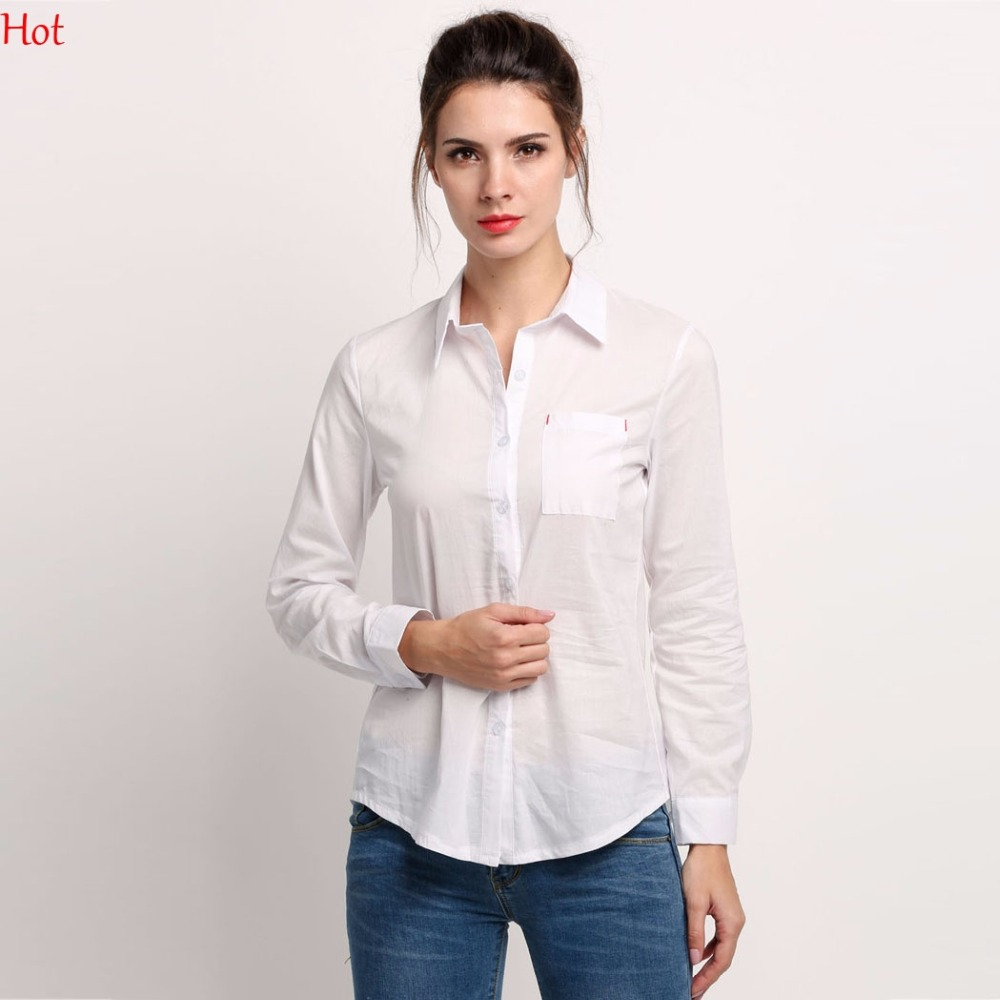 White cotton button down shirt shirts rock for Womens white button down shirt
