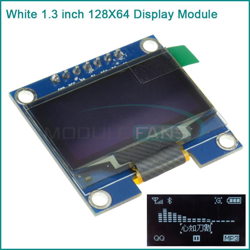White 1 3 SPI Serial 128X64 OLED LCD LED Display Module for Arduino UNO R3