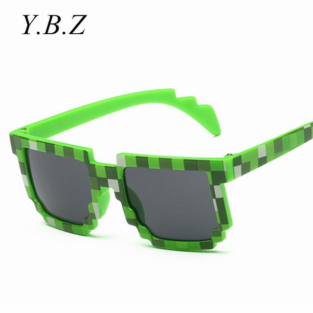Классные Очки Меньший Размер Minecraft Солнцезащитные Очки для 4-12 Лет Дети Солнцезащитные Очки Мозаика Мальчики Девочки Пикселей Eyewares K8