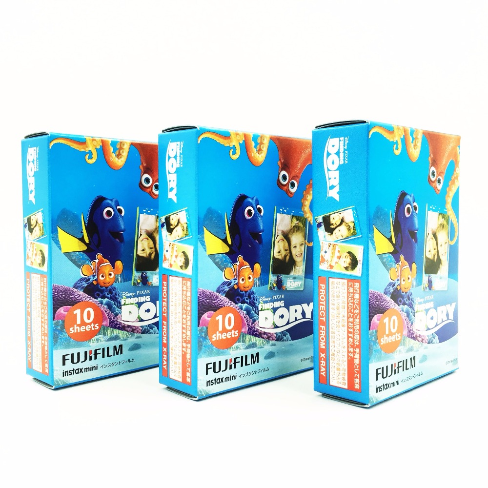 Fujifilm Instax Mini Film Finding Dory 3packs 30pcs For Fuji Instant Cameras Free Shipping 2016 Summer Big Movie(Hong Kong)