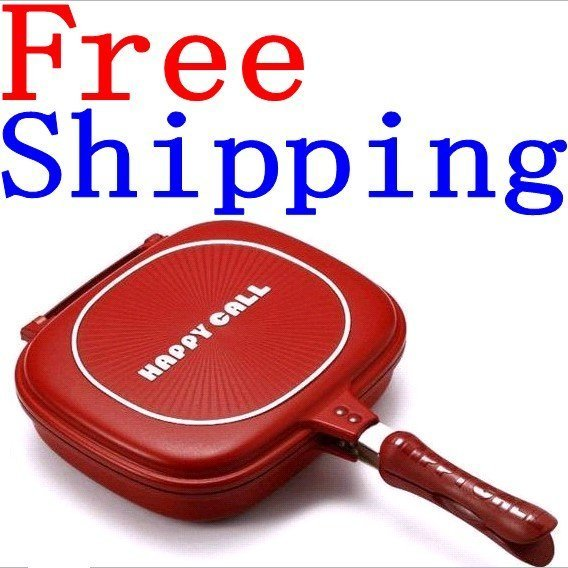 "10pcs/lot Happycall happy call double sided frying pan Well Sold to Singapore Maylaysia Indonesia etc""free shipping"""