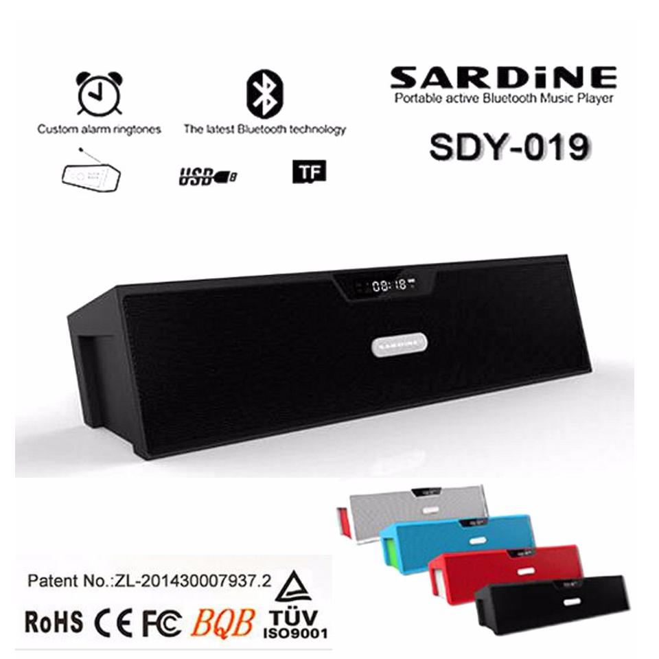 Nizhi SDY-019 Sardine Best HIFI Bluetooth Speaker with FM Radio Stereo Sound Box MIC Mini Portable Speaker with MicroSD USB(China (Mainland))