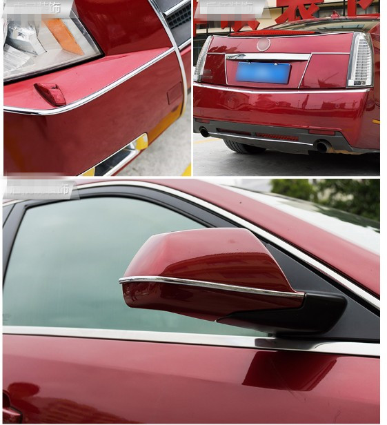 8M/lot Car Chromium Plating Exterior Rim Door Grille Renault 2 button Clio Scenic Megane 2 Styling Sticker Accessories