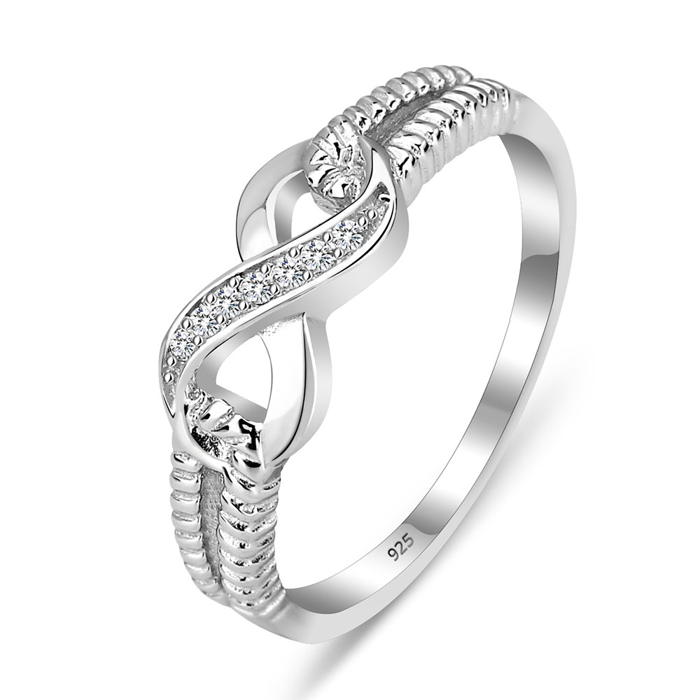 sterling silver 925 infinity ring. Black Bedroom Furniture Sets. Home Design Ideas