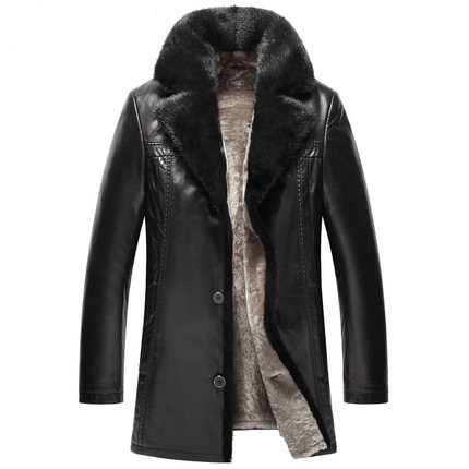 New pattern Man Imported Mink Collar Wool leather liner Medium length Skin and fur Leather and fur  WXN024Одежда и ак�е��уары<br><br><br>Aliexpress