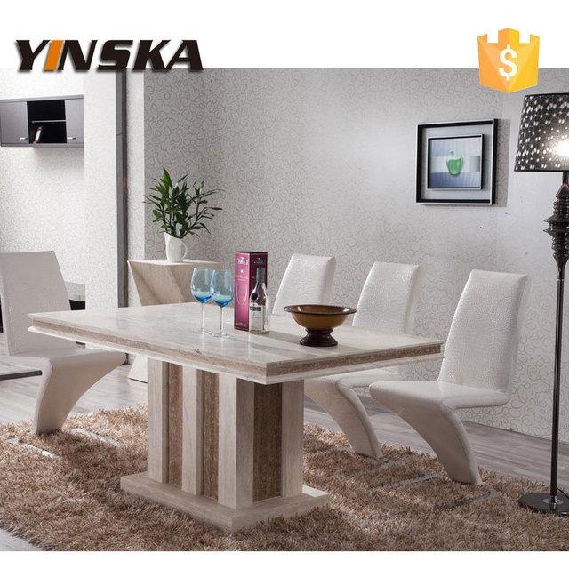 Meubles de luxe moderne pierre naturelle marbre table for Table de salle a manger 8 places