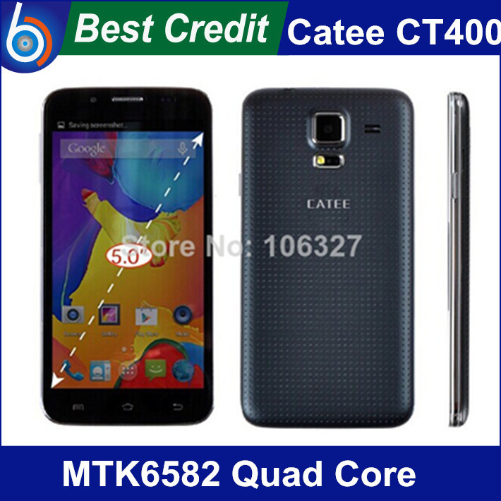 "New original Catee CT400 MTK6582 Quad Core Android 4.2 mobile phone 1.3GHz 512GB RAM 4GB ROM 5.0"" IPS GPS(China (Mainland))"