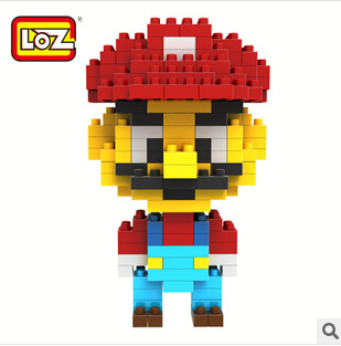 Free Shipping Hot Selling LOZ Small Particles Diamond DIY Originality Splicing Toy Block Super Mario Despicable Me(China (Mainland))