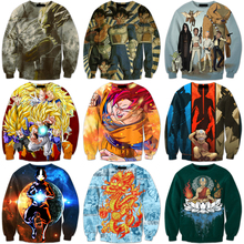 Аниме дракон г персонажи 3D толстовка мультфильм аватар твердотельные печать Crewneck пуловеры женщин длинным рукавом верхняя одежда